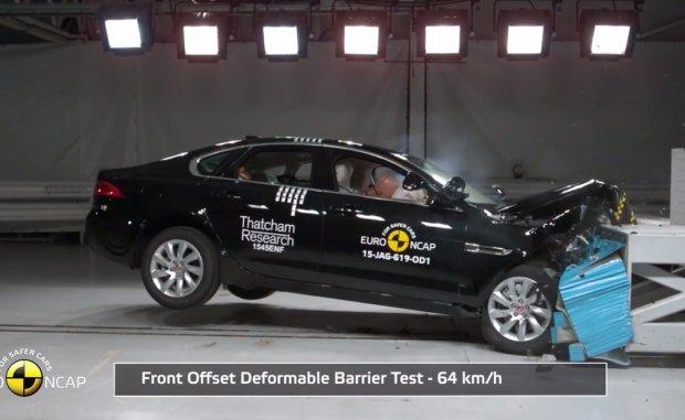 Jaguar XF testy Euro NCAP