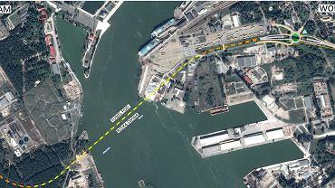 Plan orientacyjny budowy tunelu