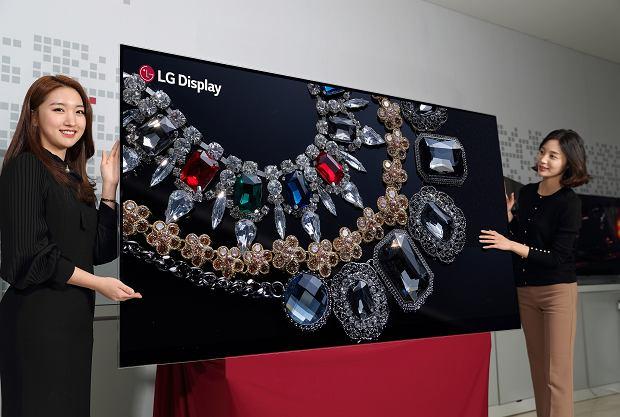Ekran OLED 8K o rozdzielczości 88 cali
