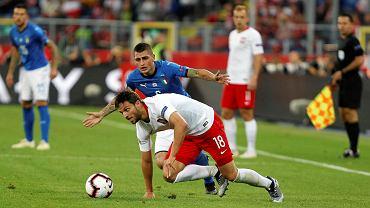 Bartosz Bereszyński podczas meczu Polska - Włochy (Liga Narodów). Chorzów, Stadion Śląski, 14 października 2018