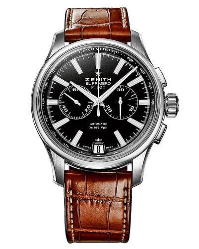 Hit: zegarki dla pilot�w, moda m�ska, zegarki, Zenith Pilot Chronograph. Cena: 20 230 z�
