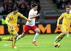 Robert Lewandowski w meczu Polska - Ukraina