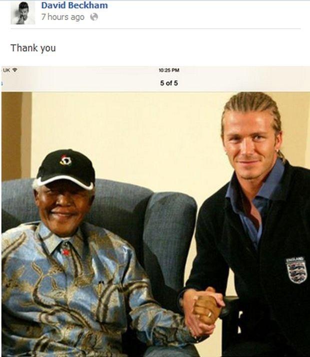 David Beckham i Nelson Mandela