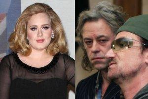 Adele, Bob Geldof i Bono