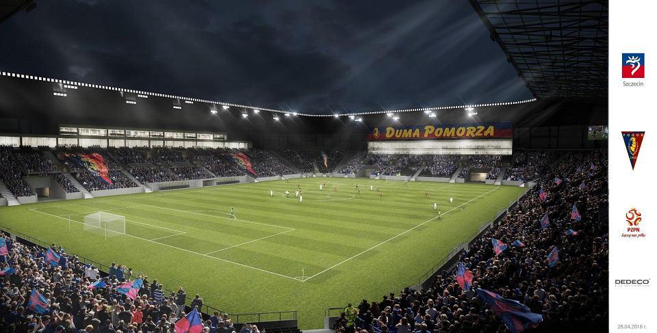 Zmieniony projekt stadionu Pogoni. Widok z trybun