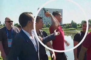 Euro 2016. Mikrofon wrzucony przez Ronaldo do jeziora wystawiony na aukcji