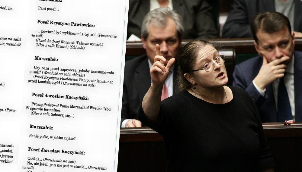 Krystyna Pawłowicz / Zapis debaty sejmowej