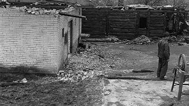 Rzepin, 4 listopada 1969 rok. Spalony dom Lipów
