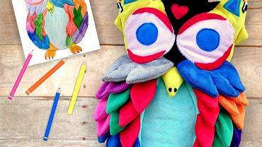 Maskotka autorstwa Mai Mencel wykonana na podstawie dziecięcego obrazka