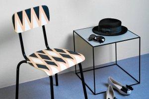 Zrób to sam: malowanie krzesła w geometryczne wzory