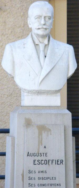 Logo z klasą: Auguste Escoffier, cesarz kucharzy świata, logo z klasą, kuchnia, kuchnie świata, Pomnik Auguste Escoffier