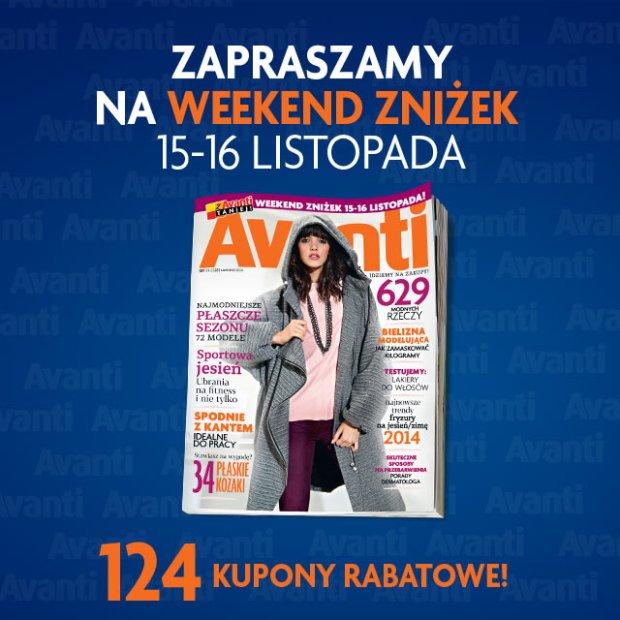 Weekend Zniżek Avanti: zobacz, jakie sklepy biorą udział w akcji 15-16 listopada