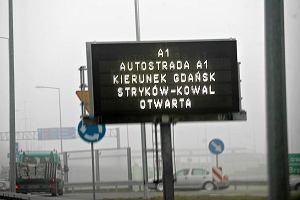 Pojechali�my autostrad� A1. Z �odzi do W�oc�awka w godzin�