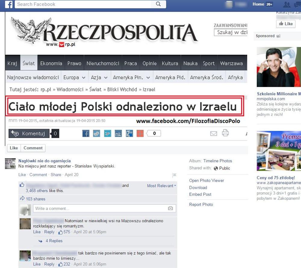 źródło Nagłówki nie do ogarnięcia / www.facebook.com/naglowki