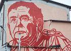 Gdańsk, ul. Wiosny Ludów 4. Mural autorstwa Mariusza Warasa z podobizną Jarosława Kaczyńskiego