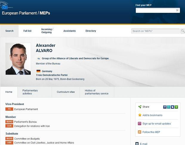 Wiceprzewodnicz�cy Parlamentu Europejskiego pod wp�ywem kokainy spowodowa� �miertelny wypadek