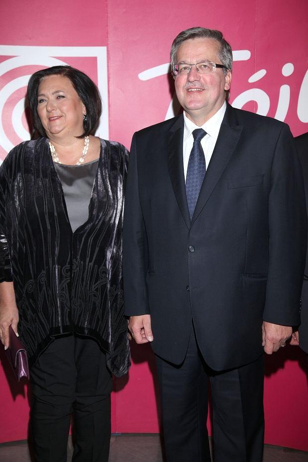 Prezydent Bronisław Komorowski z żoną Anną