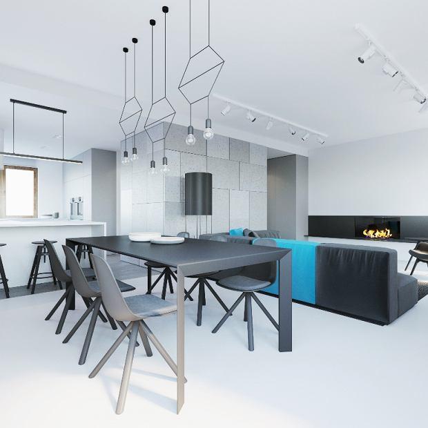 Projekt nowoczesnego mieszkania z betonem
