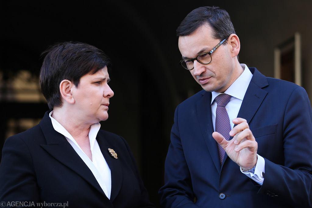 Premier Mateusz Morawiecki i wicepremier Beata Szydło