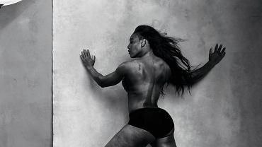 Serena Williams - tenisistka - na kwietniowej karcie w nowym kalendarzu Pirelli