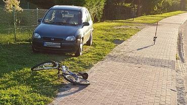 Potrącenie rowerzystów w Radostowie