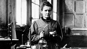 Maria Skłodowska-Curie w swojej pracowni, Paryż, 1900 r.