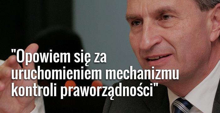 Unijny komisarz do spraw gospodarki cyfrowej i społeczeństwa Günther Oettinger