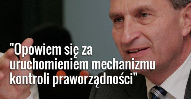 Unijny komisarz do spraw gospodarki cyfrowej i spo�ecze�stwa G�nther Oettinger