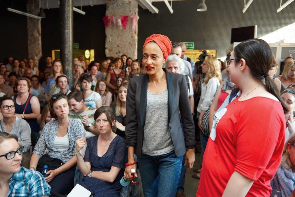 Zadie Smith na spotkaniu autorskim podczas Big Book Festival, Warszawa, 2015 r. / Darek Kawka/ BIG BOOK FESTIVAL