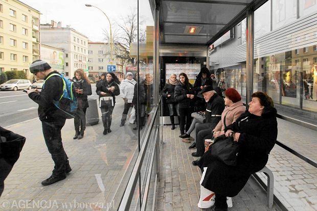 Ogrzewany przystanek przy ul. Lisa Kuli