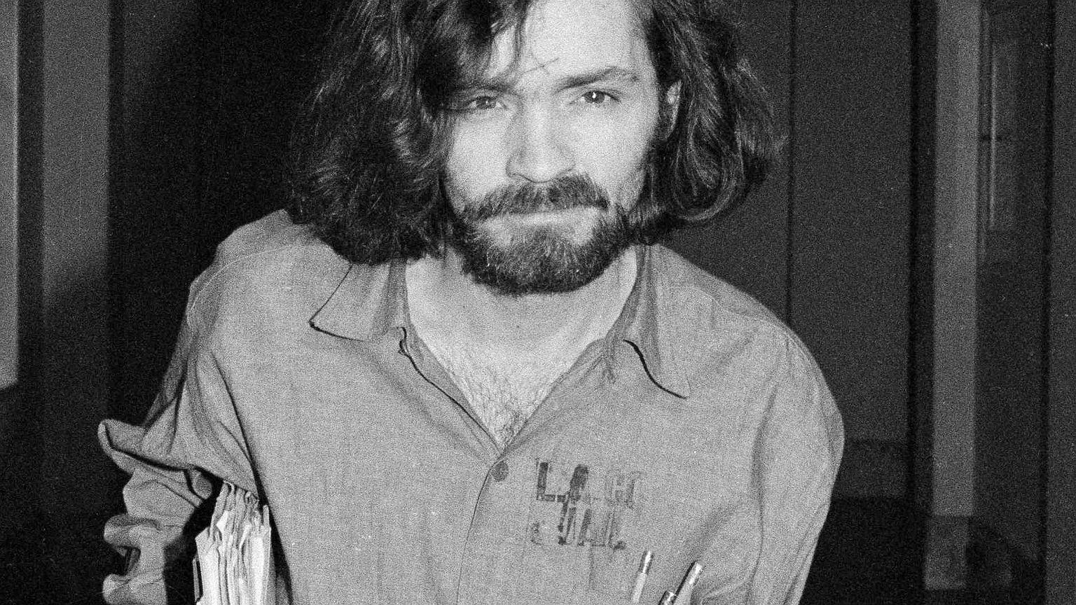 Manson w 1970 r. w trakcie procesu Lindy Kasabian