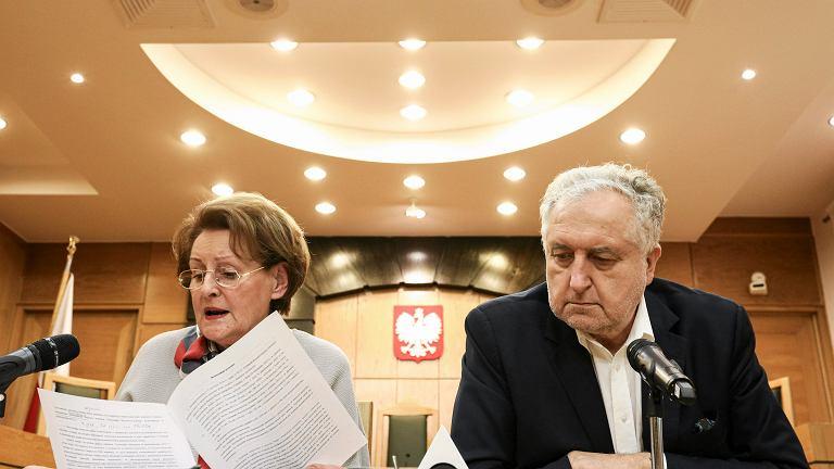Sędzia Sławomira Wronkowska Jaśkiewicz oraz prezes Trybunału Konstytucyjnego Andrzej Rzepliński