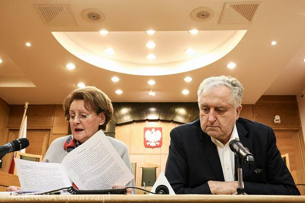 S�dzia S�awomira Wronkowska Ja�kiewicz oraz prezes Trybuna�u Konstytucyjnego Andrzej Rzepli�ski