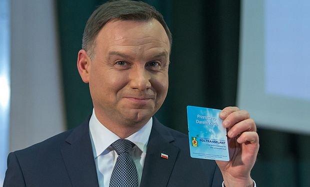 Andrzej Duda podpisał oświadczenie woli o przekazaniu po śmierci swoich narządów do przeszczepu