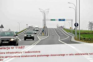 Z polskich dróg zniknie podwójna ciągła? Posłanka Nowoczesnej chce zaoszczędzić na farbie