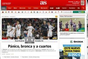 """Real Madryt - Schalke 04. Hiszpańskie media: """"Ćwierćfinał wstydu"""", """"Śmieszny Real"""""""