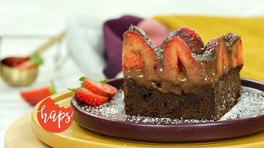 Haps Brownie z truskawkami