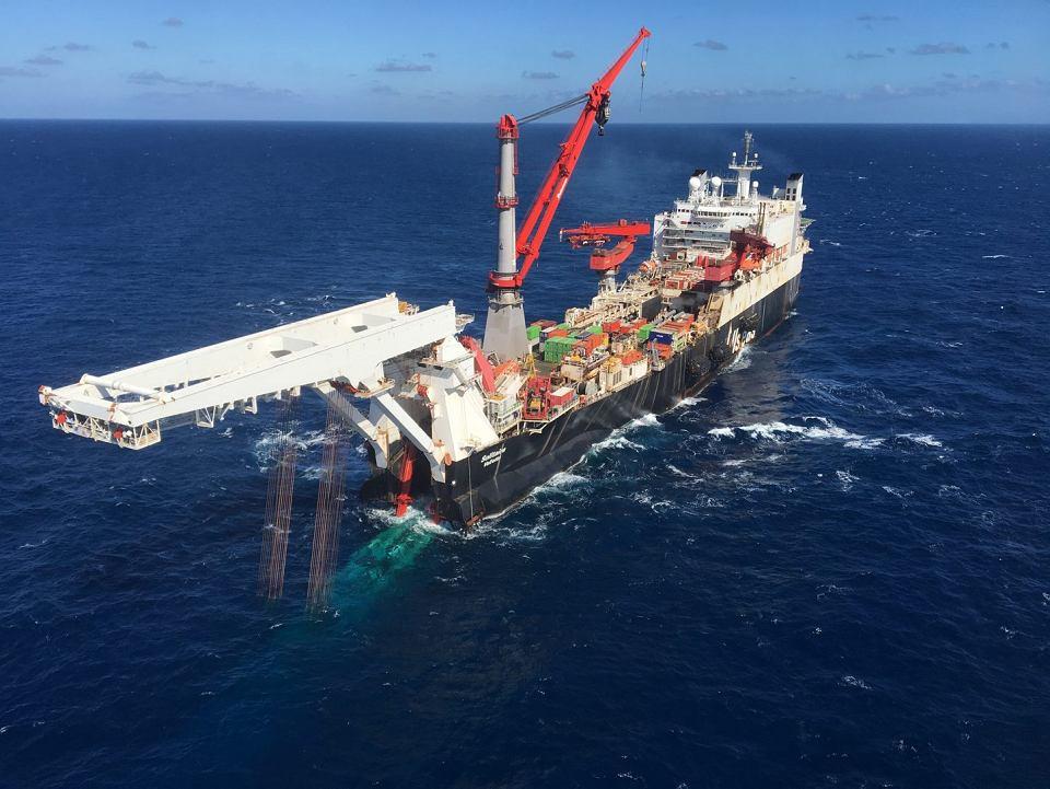 Układanie gazociągu Nord Stream 2