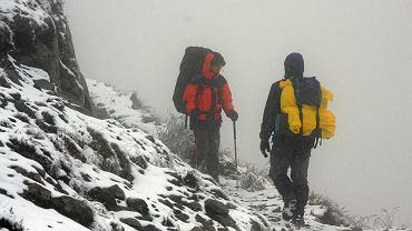 Kasprowy Wierch we wrześniu 2008 r. Wtedy też nastąpiło załamanie pogody i w Tatrach spadł śnieg