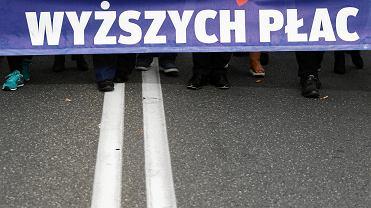 Ogólnopolska manifestacja pracowników budżetówki - 'Mamy dość wyzysku!'. Warszawa, 22 września 2018