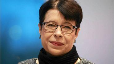 Wiceminister kultury Wanda Zwinogrodzka podczas wizyty w Operze i Filharmonii Podlaskiej