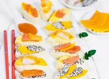 Sushi ryżowo-czekoladowe z owocami tropikalnymi - ugotuj