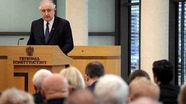 Prezes TK Andrzej Rzepliński podczas Zgromadzenia Ogólnego Sędziów Trybunału Konstytucyjnego