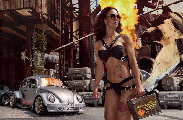 Kalendarze 2016 | Miss Tuning | Ogień i wybuchy