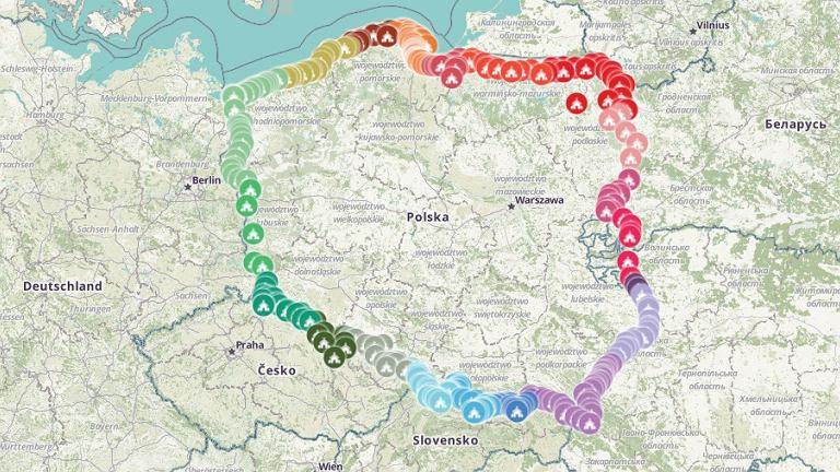 Różaniec wzdłuż granic Polski