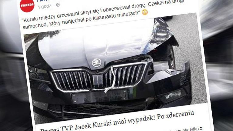 Prezes TVP miał wypadek