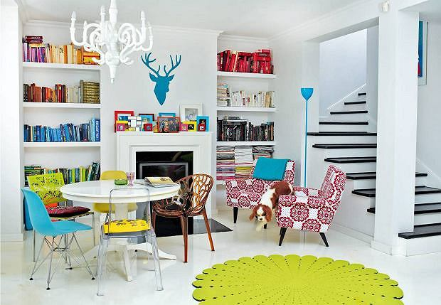 Salon zaprojektowany przez Dorotę Szelągowską