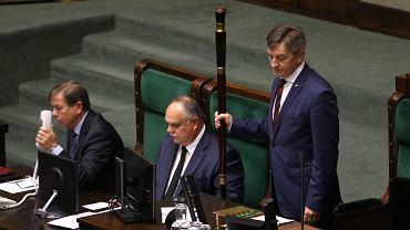 Marszałek Sejmu Marek Kuchciński. 48 posiedzenie Sejmu VIII kadencji. Warszawa, 27 września 2017