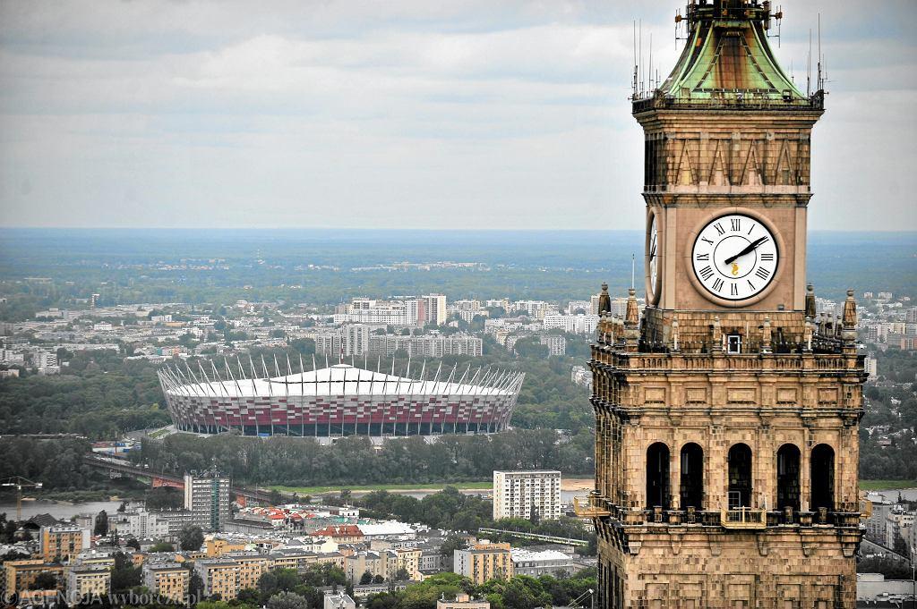 Zegar na Pałacu Kultury