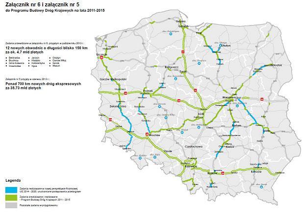 Załącznik nr 6 i załącznik nr 5 do Program u Budowy Dróg Krajowych na lata 2011-2015